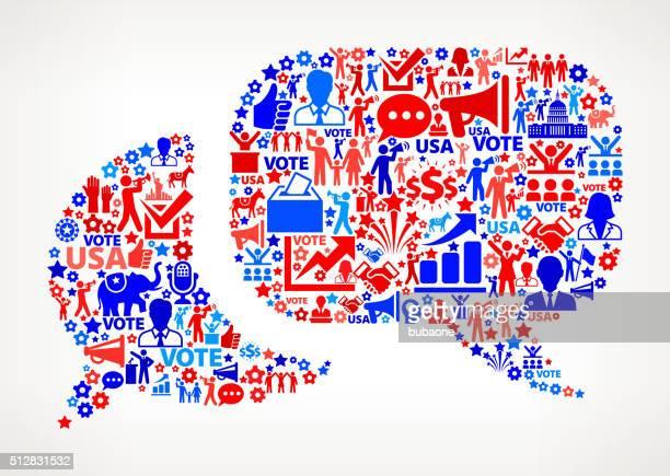 Diskussion Abstimmung und Wahlen VEREINIGTE STAATEN patriotischen Symbol-Muster