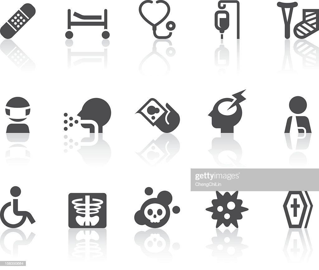 Disease Icons | Simple Black Series