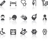 Disease Icons | Simple Black Series