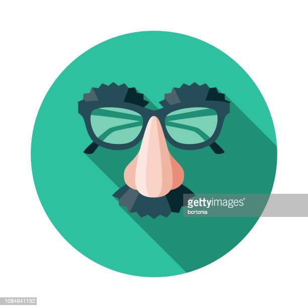 disguise flat design april fools day icon - april fools day stock illustrations