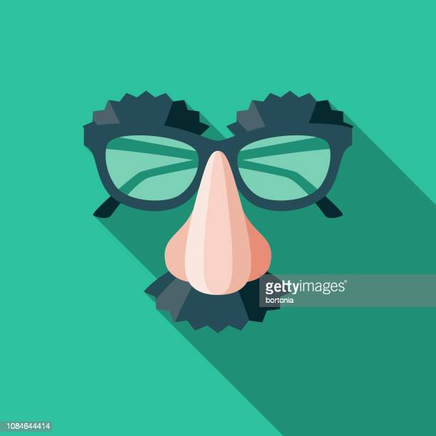 disguise flat design april fools day icon - humor stock illustrations