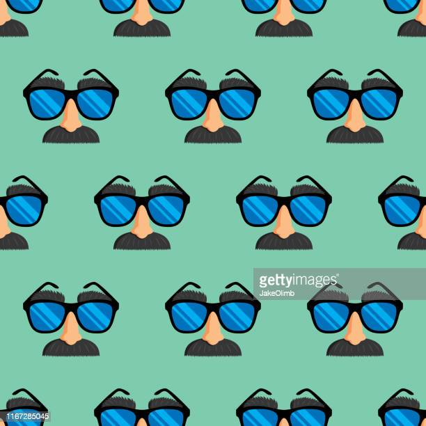 disguise pattern - april fools day stock illustrations