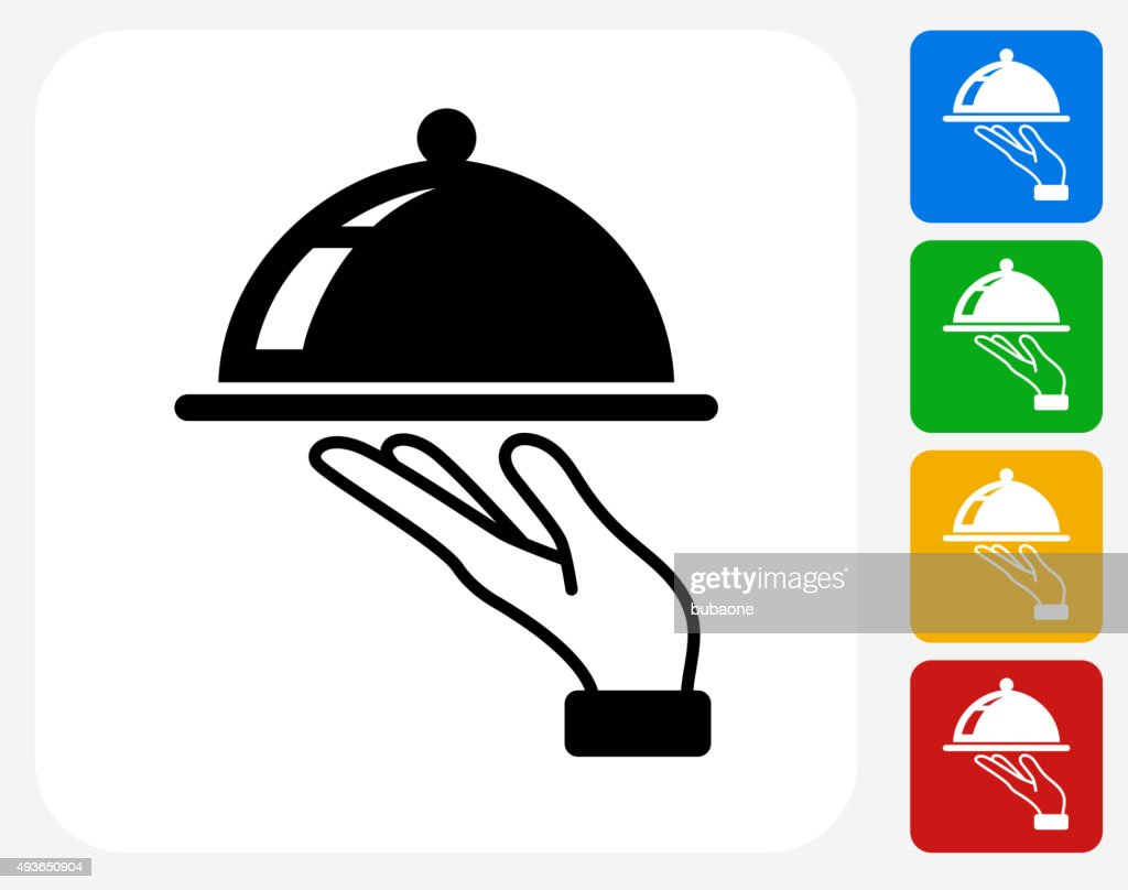 Dish Icon Flat Graphic Design