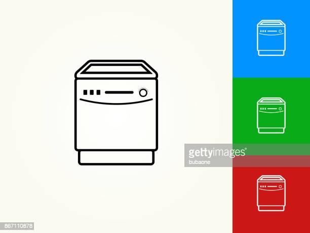 Dish Washer Black Stroke Linear Icon