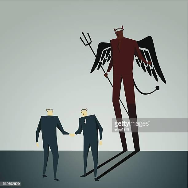ilustrações, clipart, desenhos animados e ícones de desonestidade - office politics