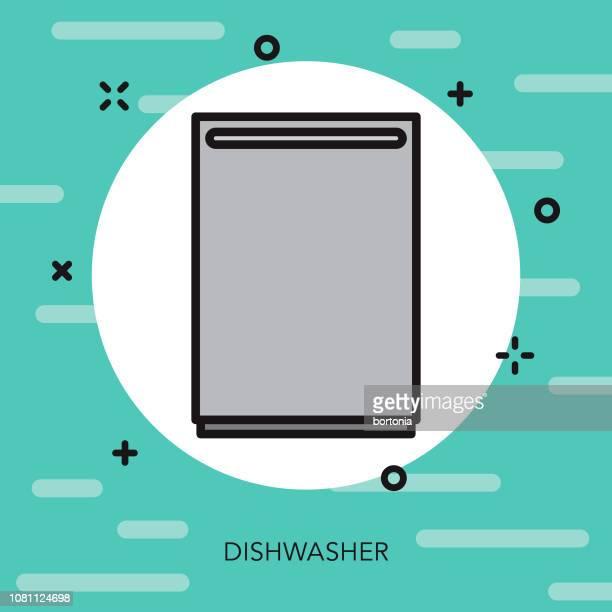 Dishwasher Thin Line Appliance Icon