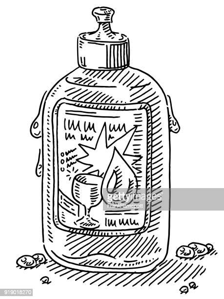 dishwashing detergent container drawing - washing dishes stock illustrations, clip art, cartoons, & icons