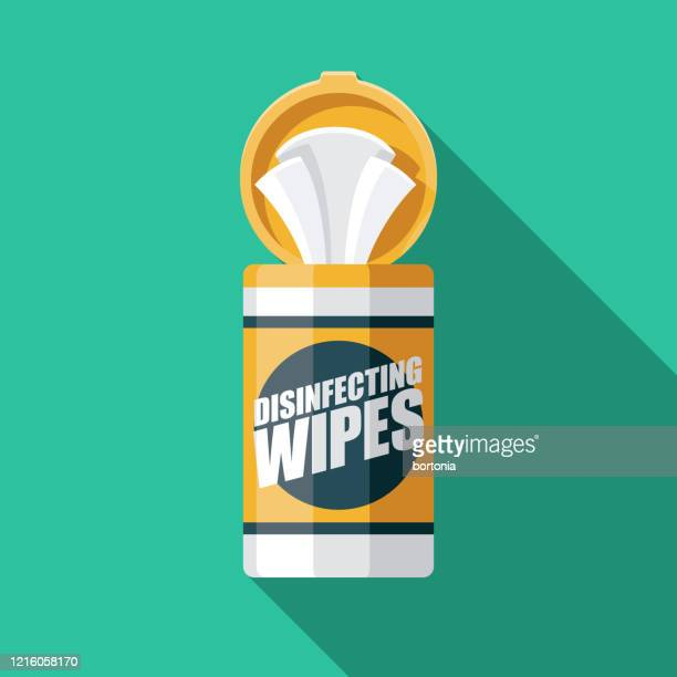 disinfecting wipes coronavirus covid-19 icon - condition stock illustrations