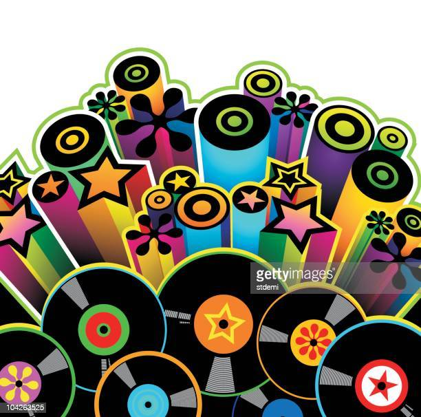disk - funky stock illustrations