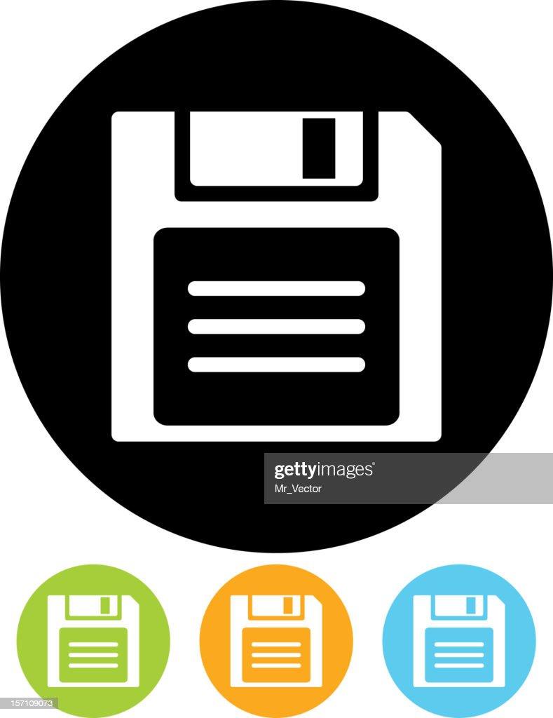 Diskette - Vector icon
