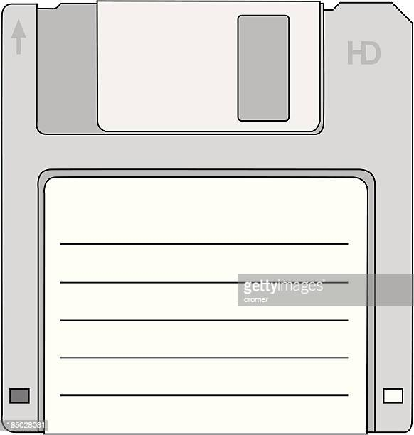 diskette (vector) - floppy disk stock illustrations, clip art, cartoons, & icons