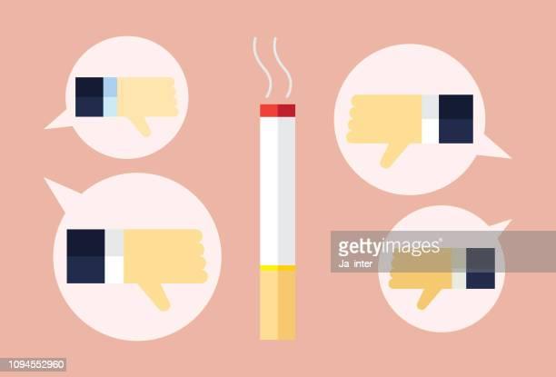 dislike smoking - quitting smoking stock illustrations, clip art, cartoons, & icons