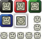 LCD display pixel smiley faces