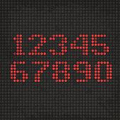 LED Display Scoreboard Dot Grunge Digits