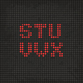 LED Display Scoreboard Dot Grunge Font from S to X