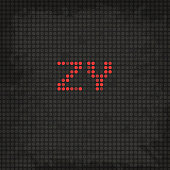 LED Display Scoreboard Dot Grunge Font from Z to Y