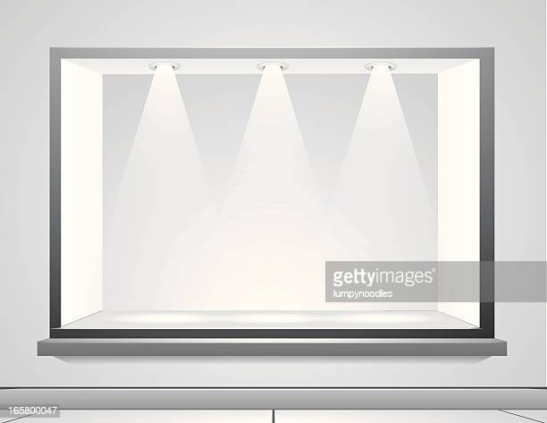 display window - display cabinet stock illustrations, clip art, cartoons, & icons