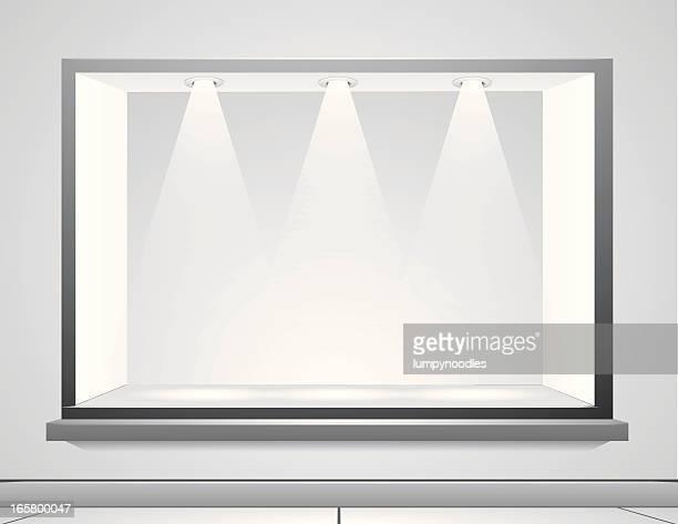 display window - retail display stock illustrations