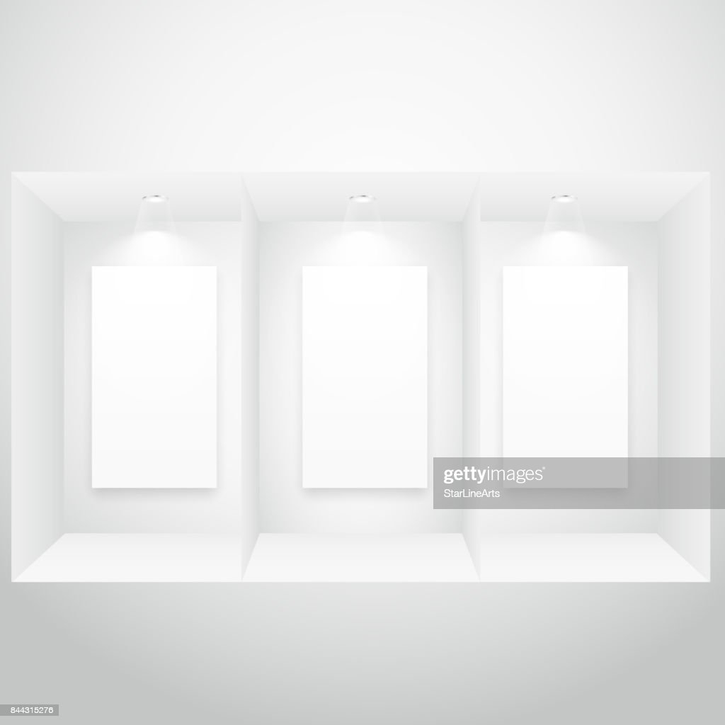 display window with picture frame