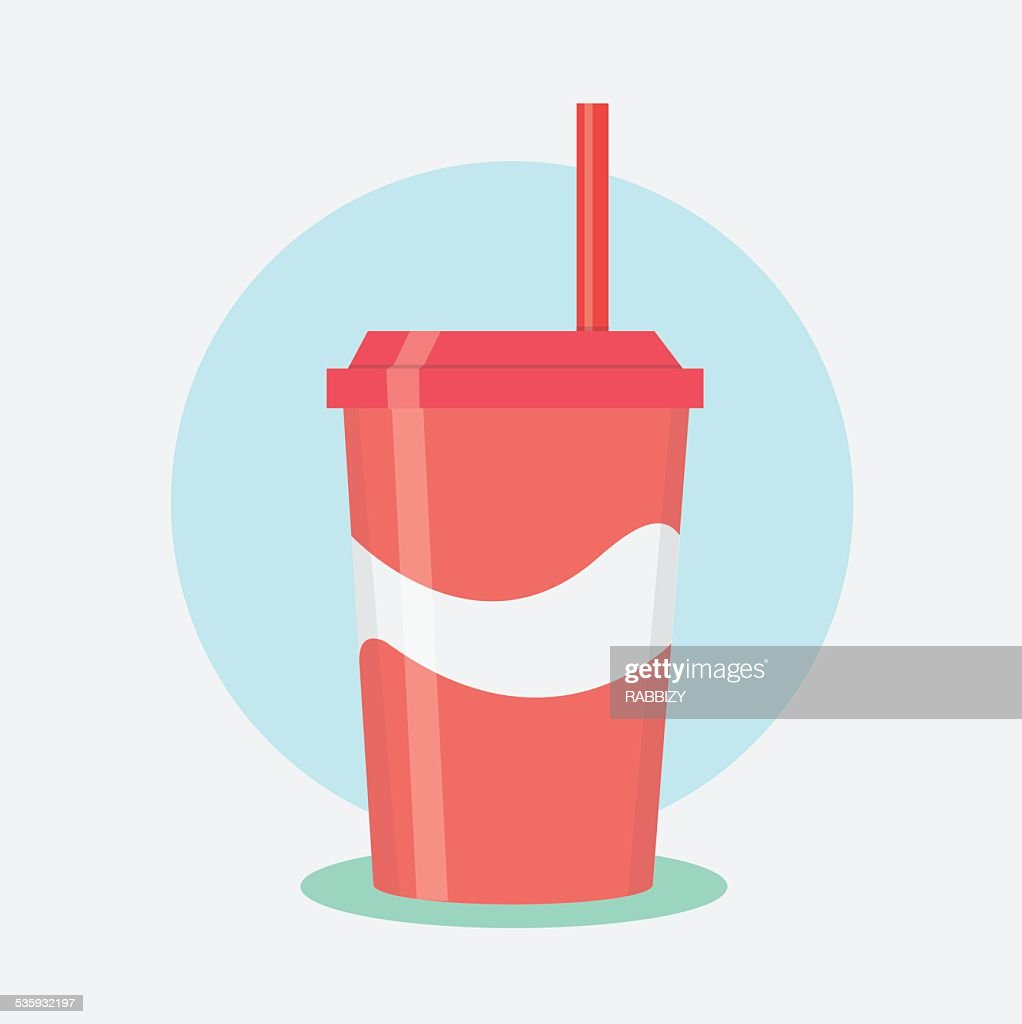 Disposable cup for beverages - vector : Vector Art