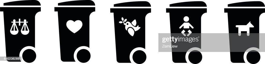 Disposable society concept