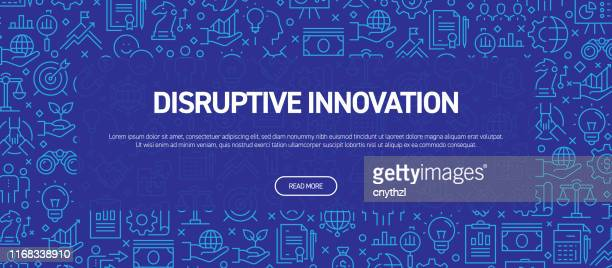 disruptive innovation concept - business related seamless pattern web banner - courage stock illustrations