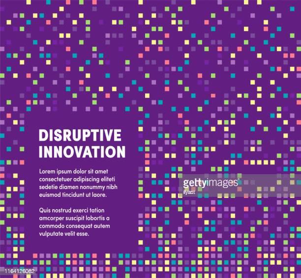 disruptive innovation modern & artistic design template - innovation stock illustrations