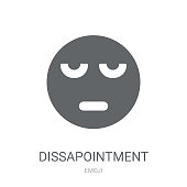 Dissapointment emoji icon. Trendy Dissapointment emoji logo concept on white background from Emoji collection