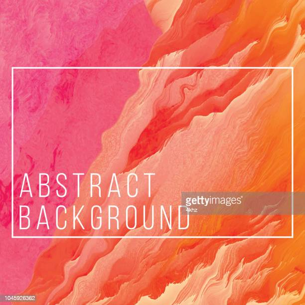 distorted lava waves digital glitch abstract grunge orange background - active volcano stock illustrations