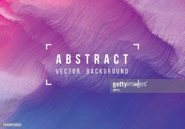 Distorted Purple Waves Digital Glitch Abstract Grunge Background