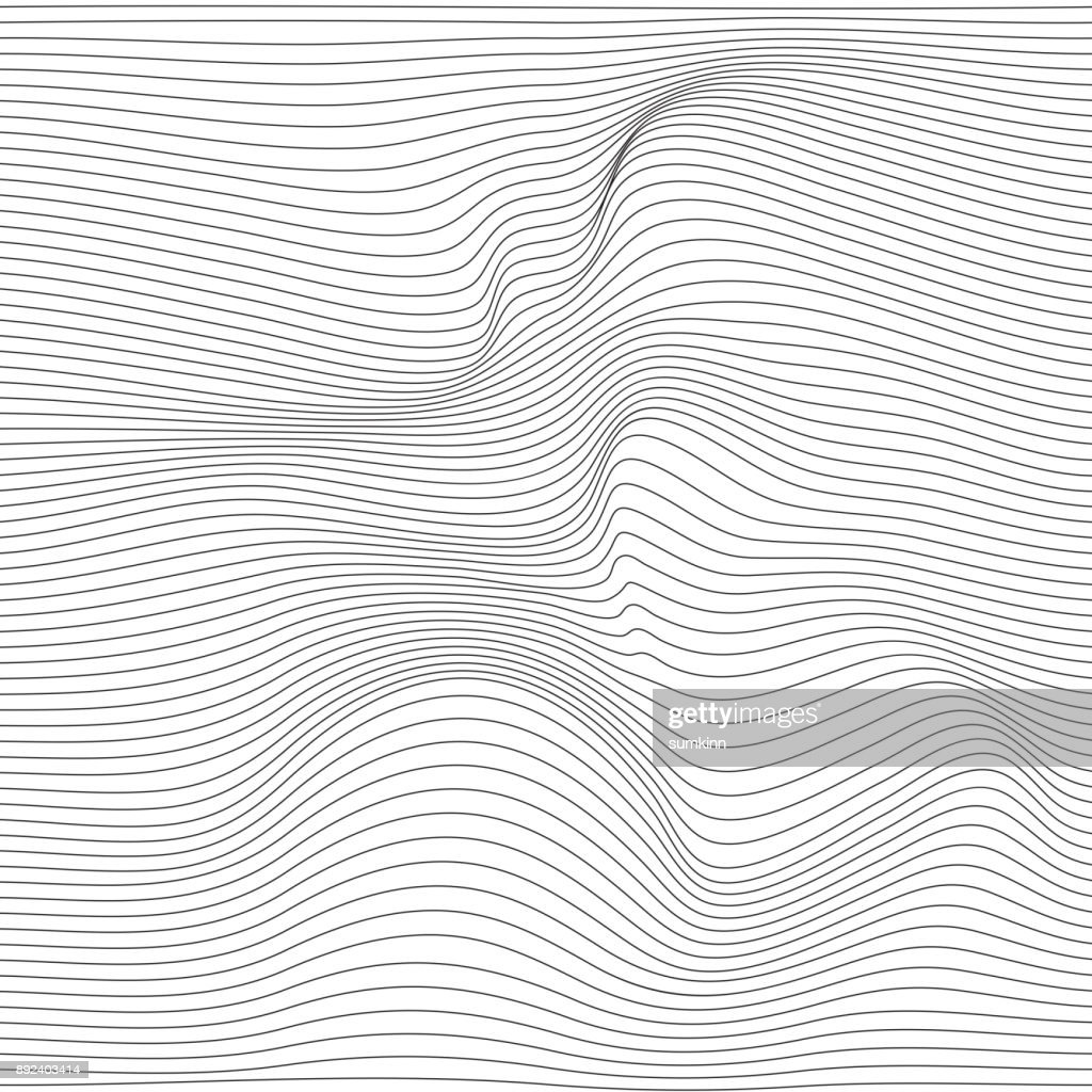 Distorted wave monochrome texture.