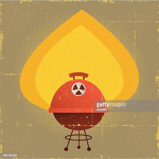 Invecchiati Griglia per Barbecue con spazio copia