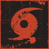 Distressed Hurricane Symbol
