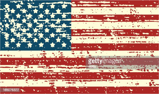 distressed us flag vector art | getty images