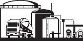 Distribution oil depot