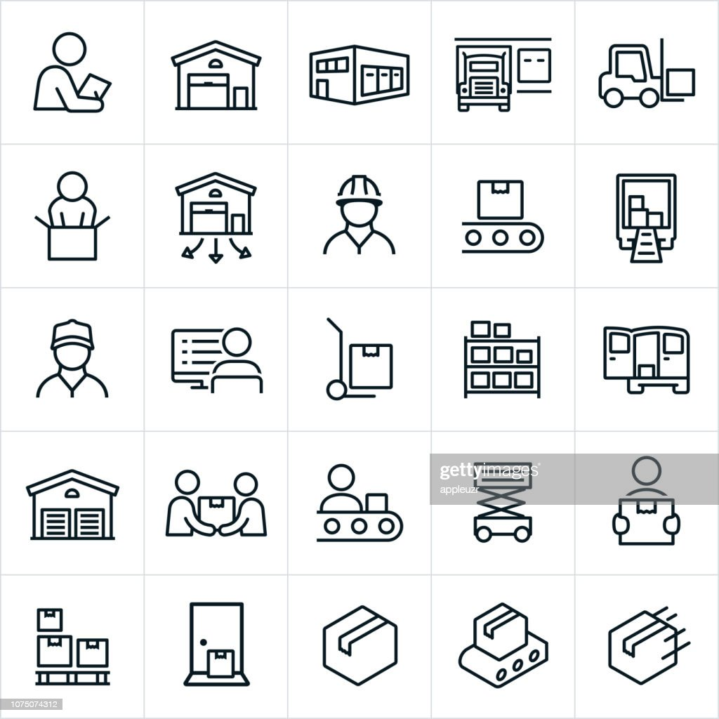 Distribution Warehouse Symbole : Stock-Illustration