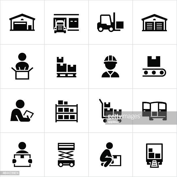 Distribution Warehouse Icons