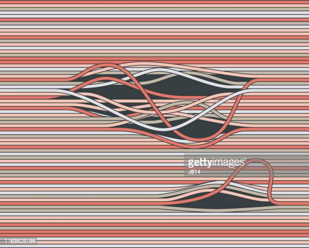 disturbed - tangled stock illustrations