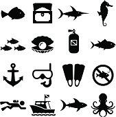 Dive Icons - Black Series