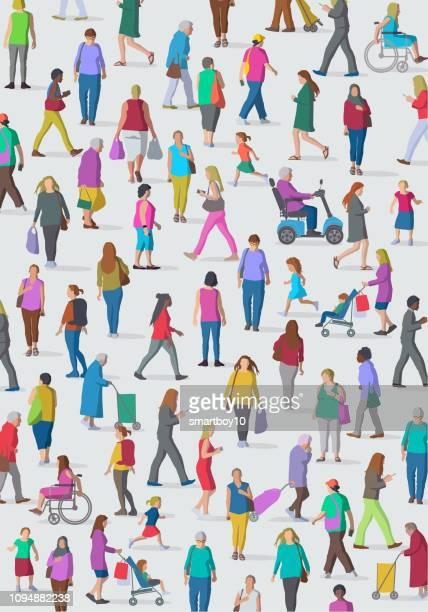 ilustrações de stock, clip art, desenhos animados e ícones de diverse group of women - cidadania
