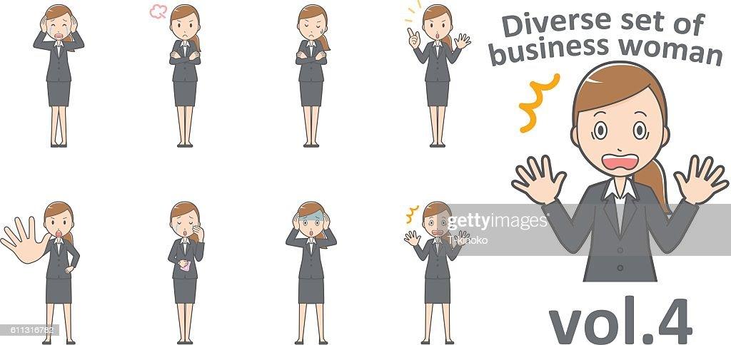 Diverse set of business woman , EPS10 vector format vol.4