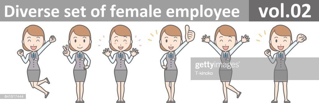 Diverse set of female employee, EPS10 vol.02