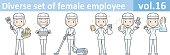 Diverse set of female employee, EPS10 vol.16