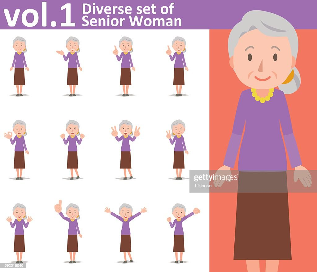Diverse set of old woman vol.1