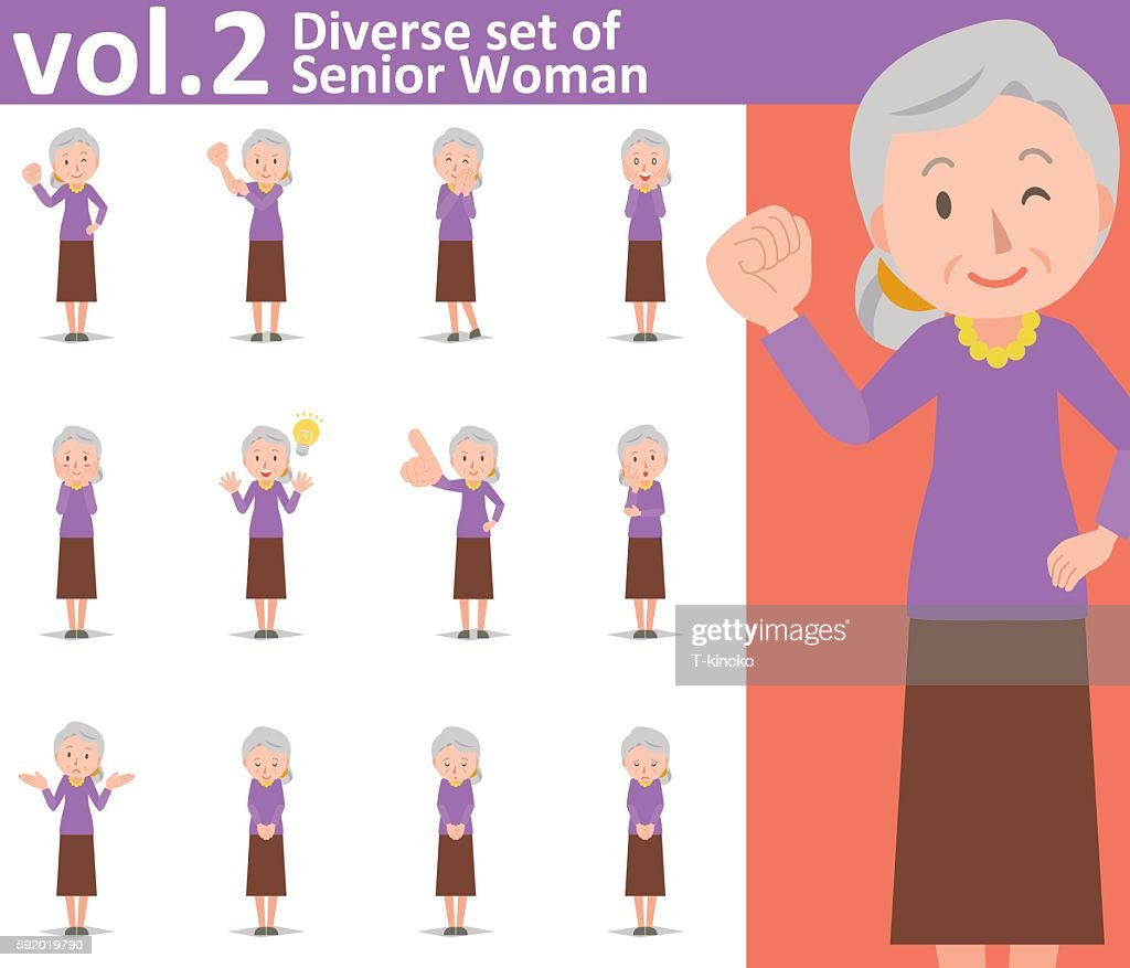 Diverse set of old woman vol.2