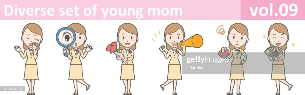Diverse set of young mom, EPS10 vol.09