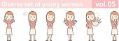 Diverse set of young woman, EPS10 vol.05