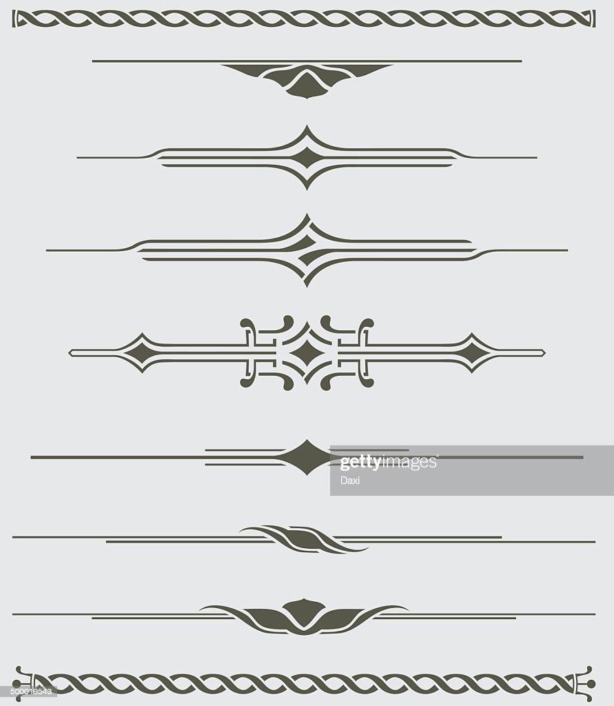 Dividers - Decorative Illustration : stock illustration