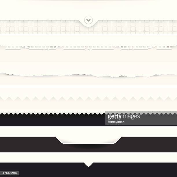 dividers set - menu background stock illustrations