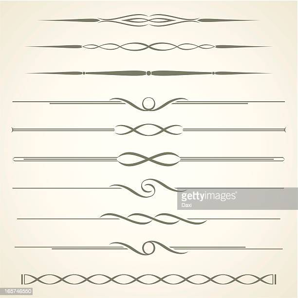 dividers - ornate stock illustrations, clip art, cartoons, & icons
